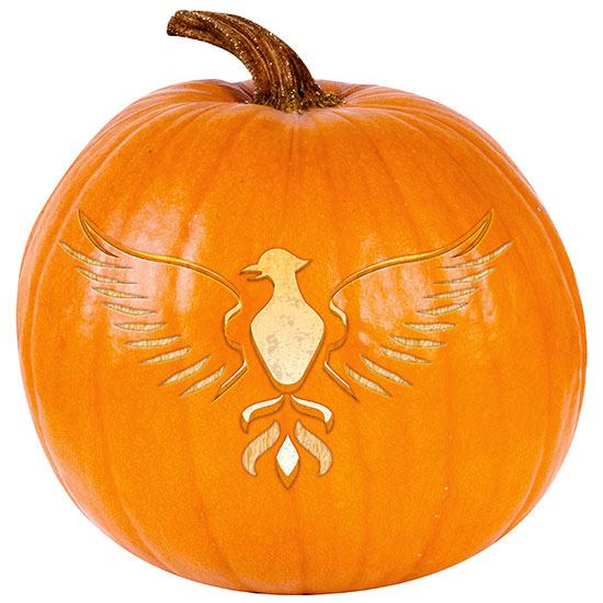 Phoenix Pumpkin Stencil