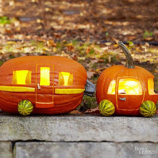 Car and Camper Pumpkin Stencils