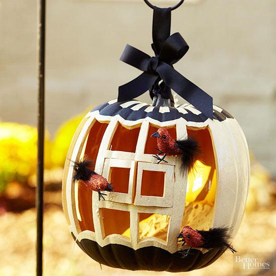 Birdcage Pumpkin Stencil