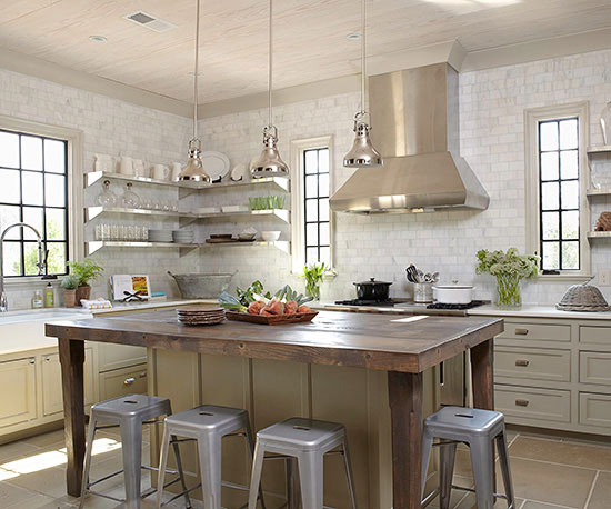 kitchens with pendant lighting - Popular Kitchen Lighting