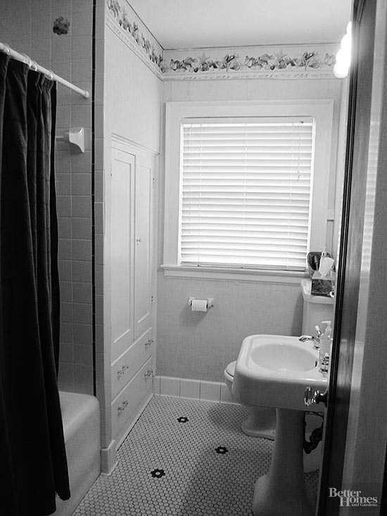 before stuck in a timewarp - Small Bathroom Renovation Photos