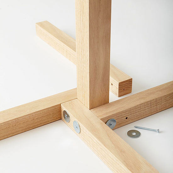 How to build a floor lamp attach base pieces to the upright lamp stand and each other with wood screws and washers aloadofball Image collections