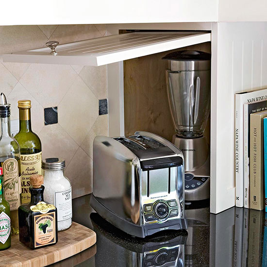 Simple Kitchen Appliances: Small Appliance Storage