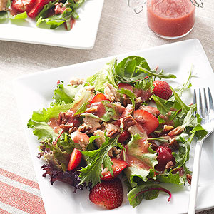 Diabetic recipes salmon salad with strawberry vinaigrette forumfinder Images