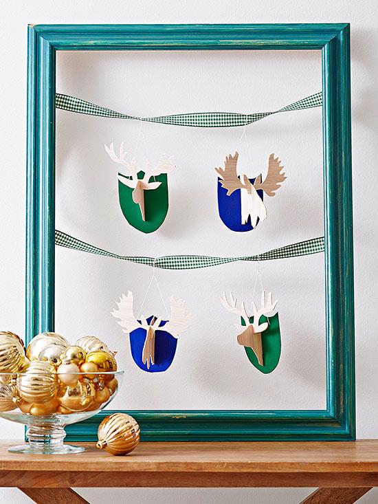DIY Deer and Moose Ornaments