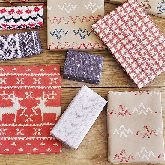 wrapping paper craft ideas white elephant from better homes and gardens 5792