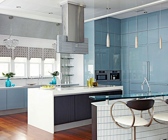 blue cabinets in kitchen retro kitchen ideas 12474