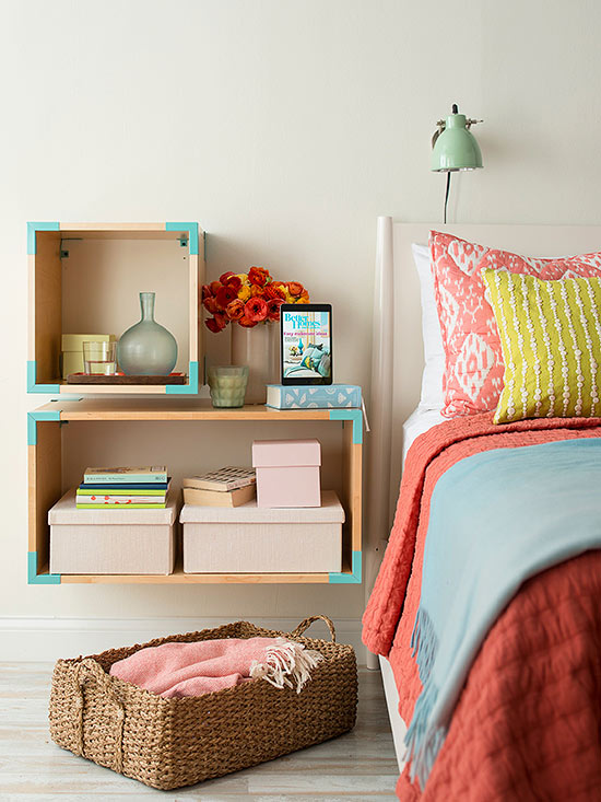 clear off the floor - Clever Storage Ideas For Small Bedrooms