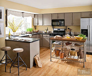 Kitchen Color Schemes - Warm kitchen cabinet colors