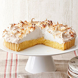 Double-Coconut and Pineapple Cream Tart