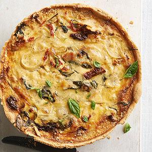 Spinach pancetta quiche for Luxury quiche