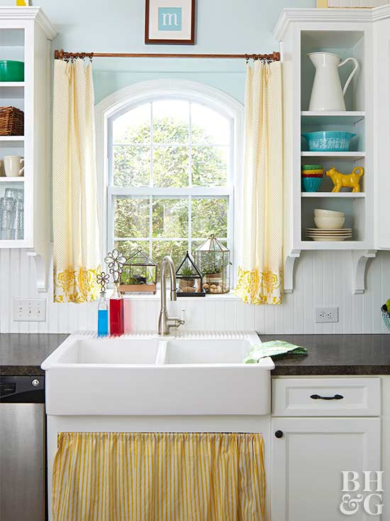 Kitchen Window Treatments Over Sink Tension Rods