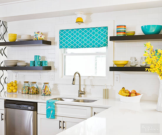 White backsplash for Low cost home additions