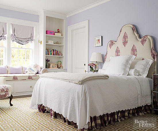 pink and lavender bedroom decorating with purple 16686