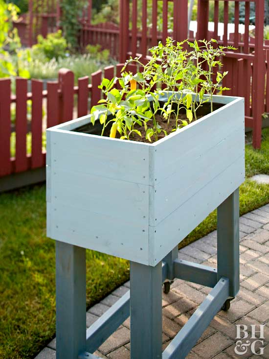 Build a rolling raised bed garden for Bhg garden plans