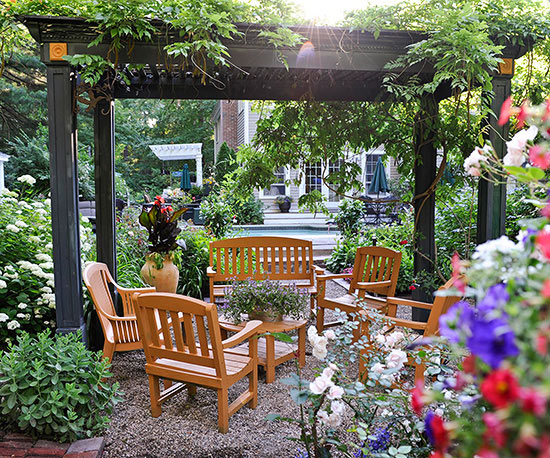 create an outdoor room - Patio Ideas For Small Gardens