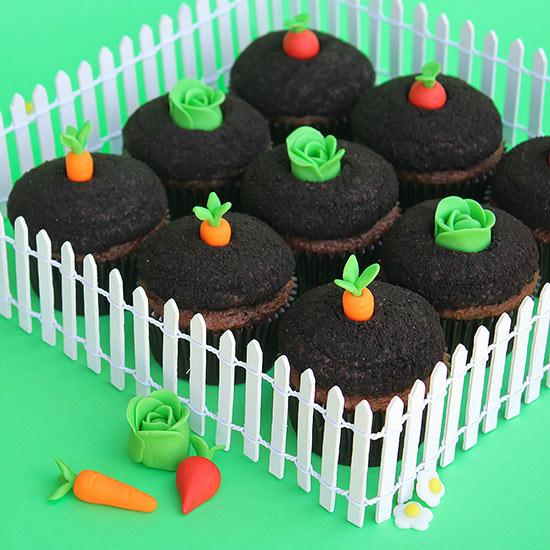 Garden-Theme Cupcakes