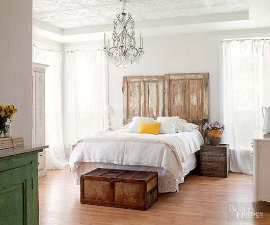 mesmerizing country bedroom ideas   Decorate with Architectural Salvage