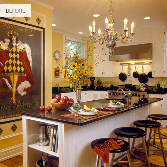 Low Cost Kitchen Cabinet Makeovers: Before And After: Elegant Kitchen Makeover