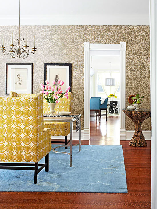Decorating with Damask