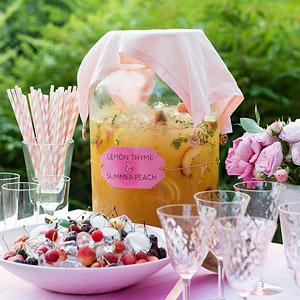 Lemon Thyme-Peach Lemonade