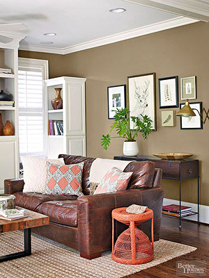 Brown Living Room. If You Like Outdoor Color ...