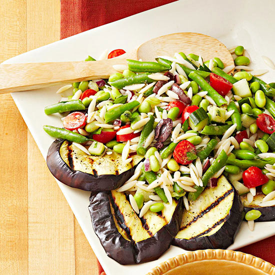 Greek style orzo and double bean salad forumfinder Choice Image