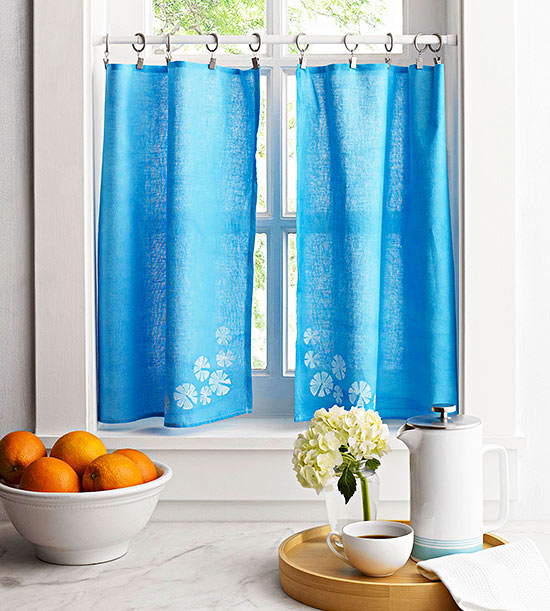 No Sew Diy Curtains And Shades. Diy Kitchen Window Treatments Ttvo