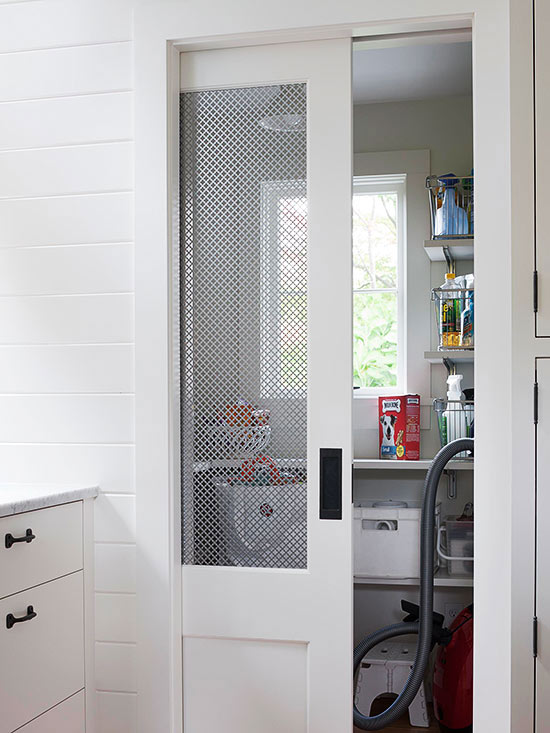 Store smarter with a pocket door. These easy-to-install doors save floor space since the door disappears into the wall when opened. & How to Install a Pocket Door