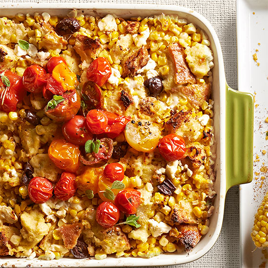 Tomato topped corn and feta casserole forumfinder Images