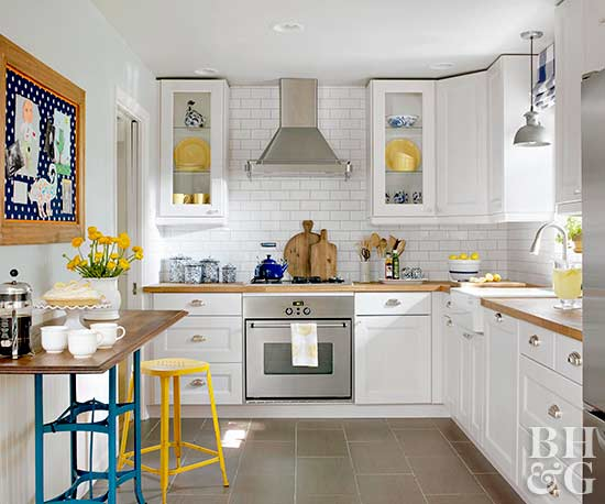 Bhg Kitchen Design Style make a small kitchen look larger
