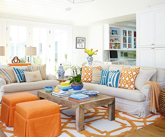 Living Room Color Scheme Vibrant Yet Livable