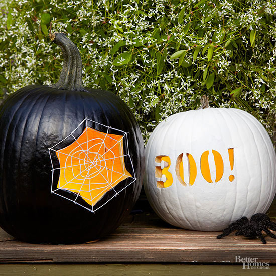 Spider Web and Boo Pumpkin Stencils