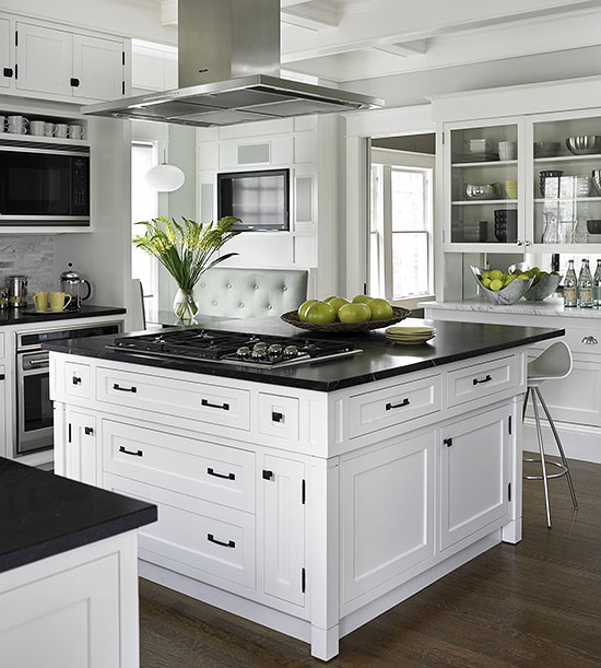 small kitchens that live large. Black Bedroom Furniture Sets. Home Design Ideas