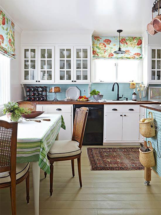 Fresh, New Cottage Kitchen