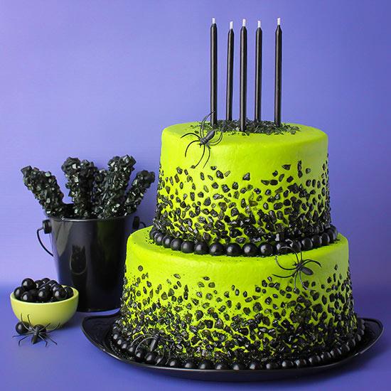Spooky Rock Candy Cake