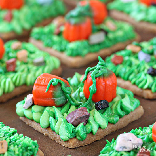 Pumpkin Patch Shortbread Cookies