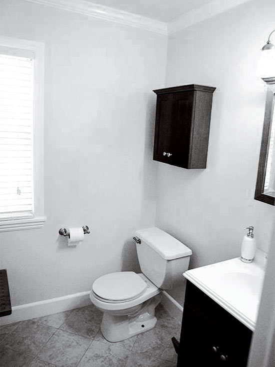 Before: Plain Powder Room