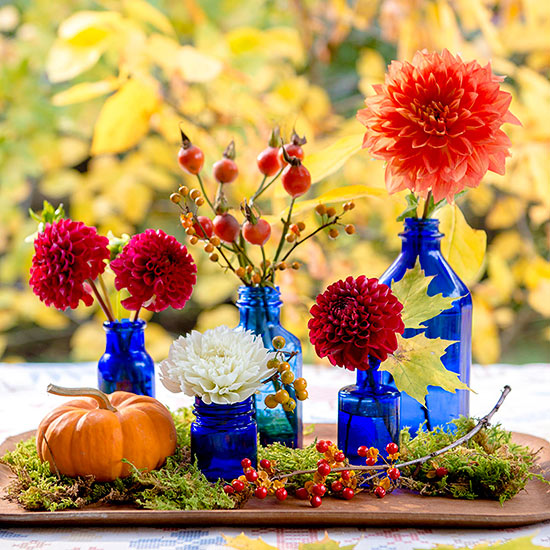 $4 or Less Fall Centerpieces
