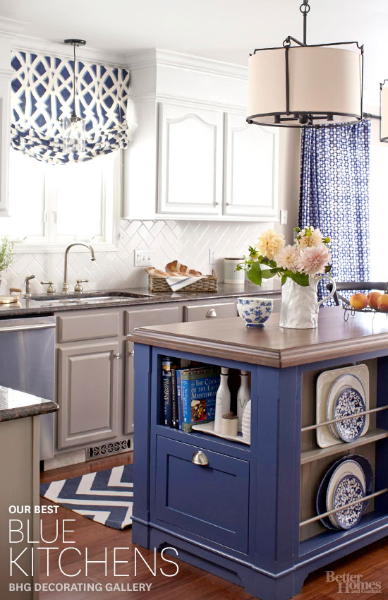 blue and white kitchen decorating ideas