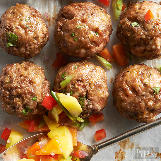 Sweet and spicy meatballs with mango salsa forumfinder Gallery