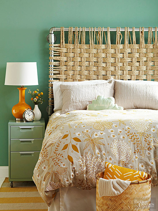 Bamboo Headboard Diy Simple
