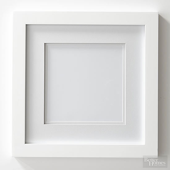 start with the basics - White Picture Frames