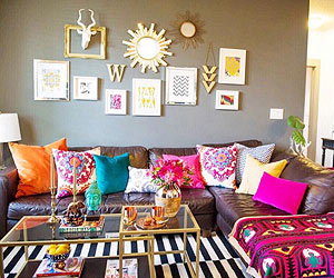 The true secret to achieving Bohemian style is to layer the prints! Fabrics  with rich textures -- florals, stripes, or ethnic prints -- and lots of  color ...