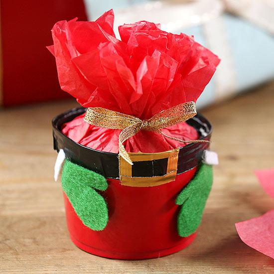 Ho, Ho, Ho: Jolly Santa Gift Container