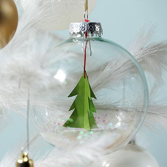 Deck Out a Plain Glass Ornament