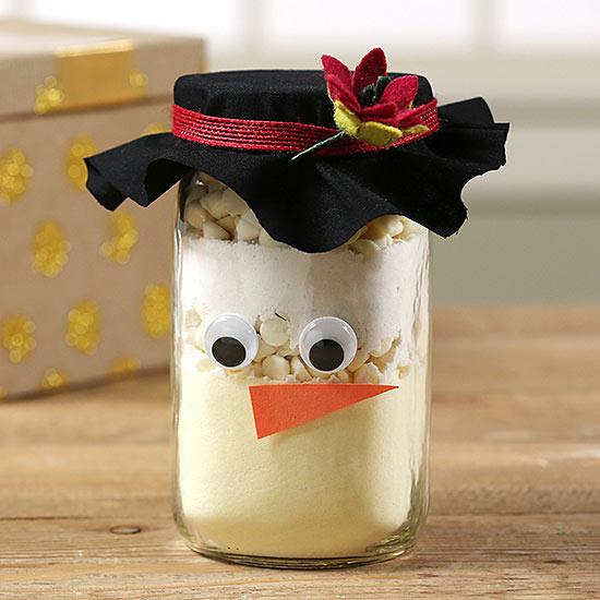 Cute Mason Jar Craft: Snowman Cookie Jar