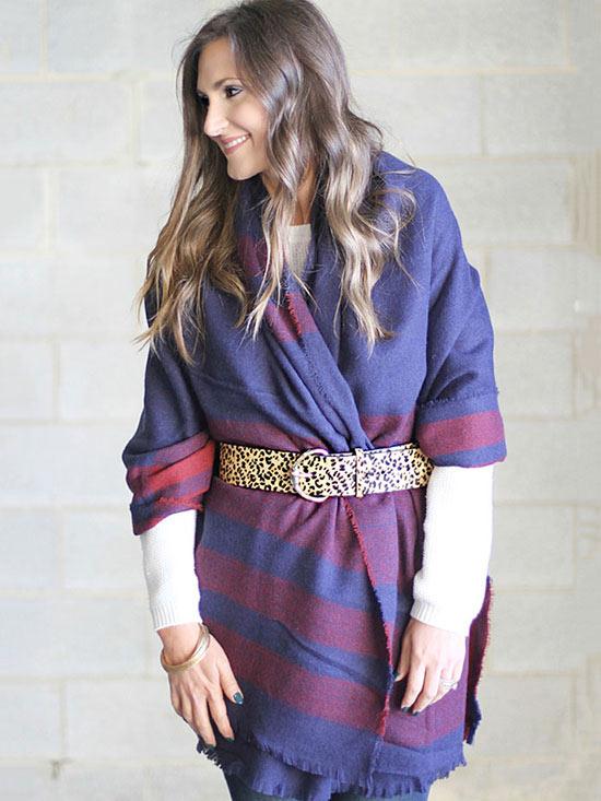 5 Super Simple Ways to Wear a Blanket Scarf