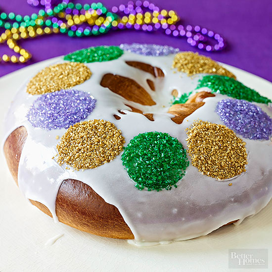 Dessert Kings Cake No Mardi Gras