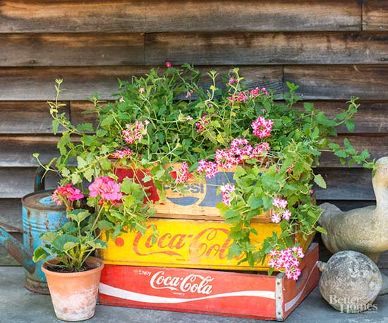 Wooden Crate Container Gardens